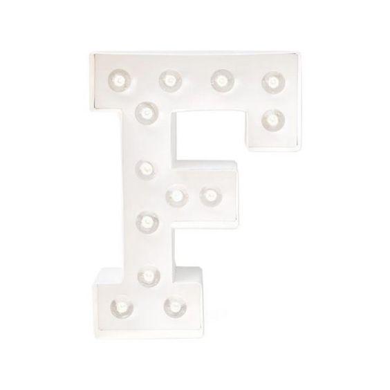 Luminária F {StoreHouse - home decor} #docer #light #letra #F #luminária #storehouse