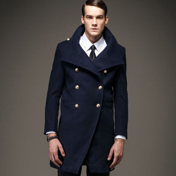 Mens Pea Coat Tall