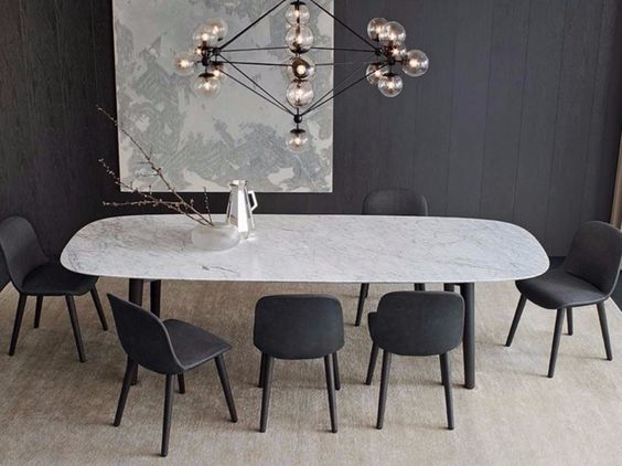 Mesa retangular de mármore MAD DINING TABLE - Poliform