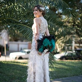 With the stunning New Orleans weather, Carolyn and Josh wanted to make their wedding day a subtle ode to the 1920's.