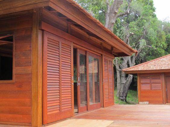 Volet en bois coulissant Mobiteck Maisons en bois Pinterest # Volet Coulissant En Bois