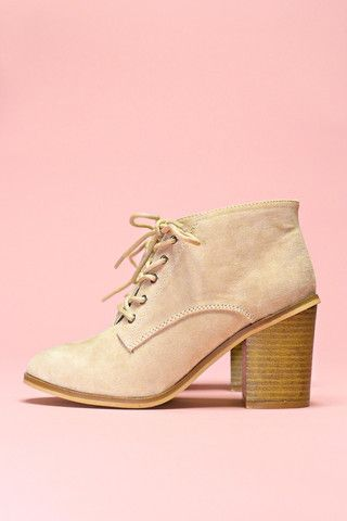 Suede Lace Up Bootie - Varsity-01x | uoionline.com: Women's Clothing Boutique