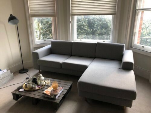 Malvern Grey L Shape Corner Sofa