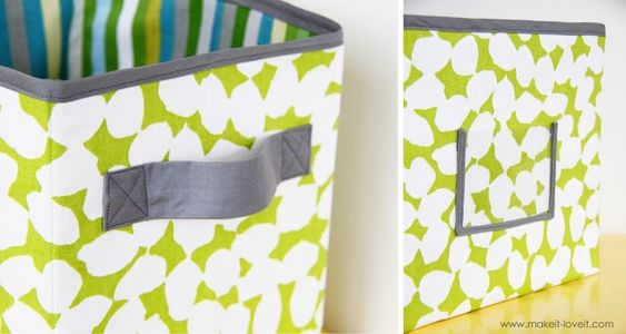 DIY fabric storage boxes