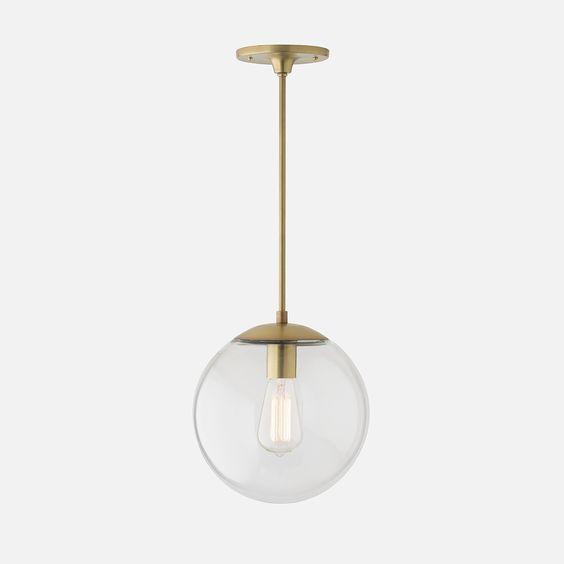 Luna Globe Pendant |  Natural Brass | Schoolhouse Electric