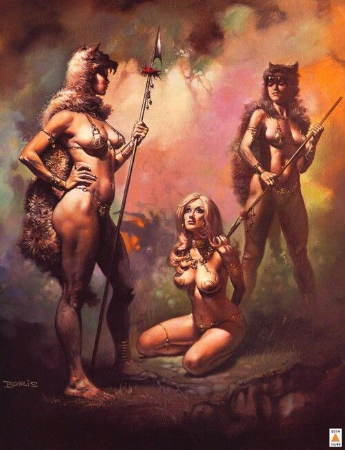 Cover art for John Norman's Captive Of Gor •Boris Vallejo