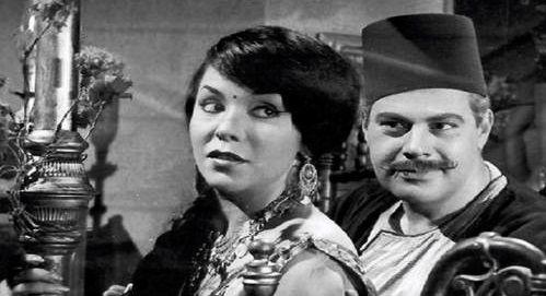 يحيى شاهين سي السيد والراقصة نعمت مختار في لقطة من فيلم بين القصرين 1964 Egyptian Actress Historical Figures Historical