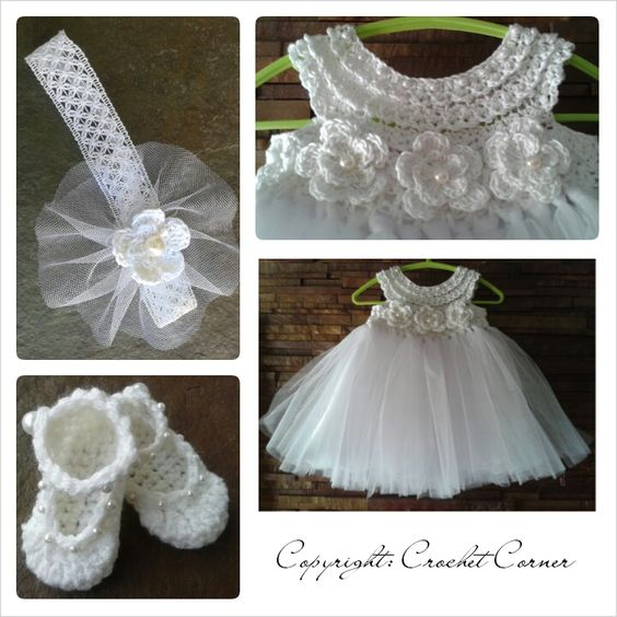 Crochet TuTu Dress set: