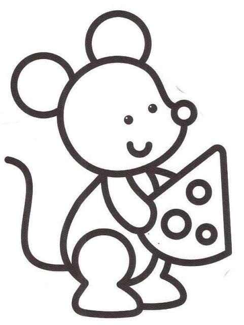 Raton Para Colorear Dibujos De Animales Sencillos Dibujos Para