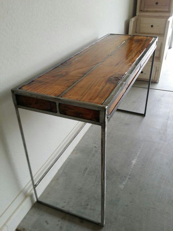 Beam And Angle Iron Desk I Made It Pinterest Beams