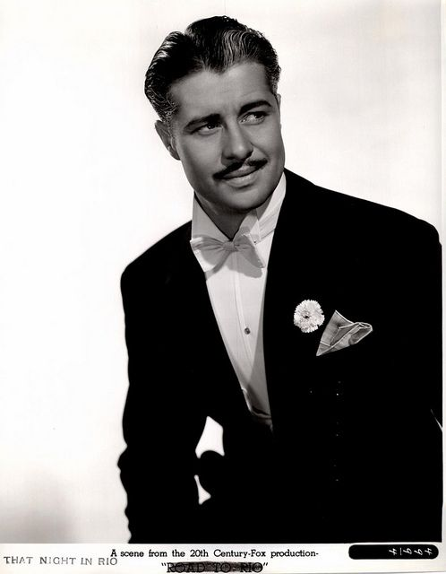 """Don Ameche - very classy. Love him in all of those movies with Carmen Miranda, like """"That Night in Rio,"""" """"Moon Over Miami"""" and """"Greenwich Village."""" (I don't think Carmen's in the last one.)"""