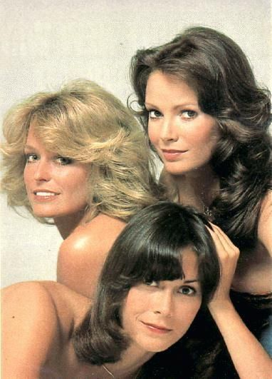 LOL @Morgan Teresa looks like we got the right idea on our shoot! Jaclyn Smith, Farrah Fawcett and Kate Jackson in Charlie´s Angels Photoshoot