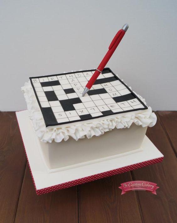 Crossword Cake - Cake by TheCustomCakery ?? Specialty ...