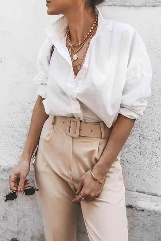 25+ ways to style a button-down shirt - #ButtonDownShirt #On #Possibilities #style #to...  #Buttondown #ButtonDownShirt