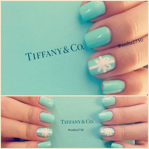 tiffany blue nails (hairandnailfashion)