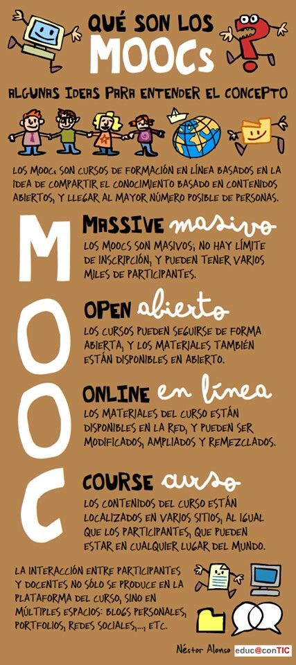 ¿Qué son los MOOC? Por @nestomatic: