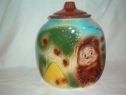 Vintage american bisque beehive bear corner cookie jar flashing bear from 1950 39 s beehive jars - Beehive cookie jar ...