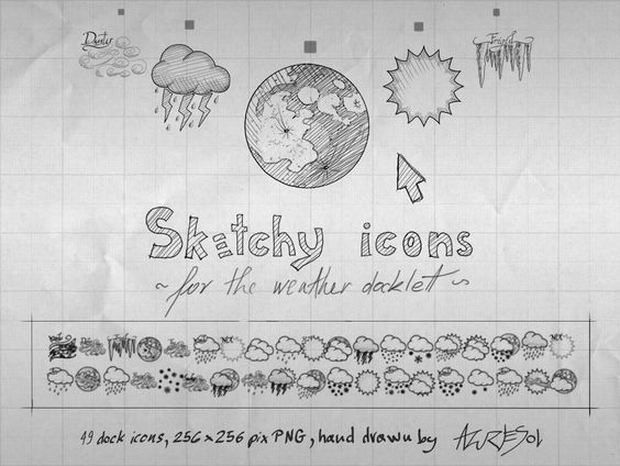 http://azuresol.deviantart.com/art/Sketchy-Weather-Icons-135079063
