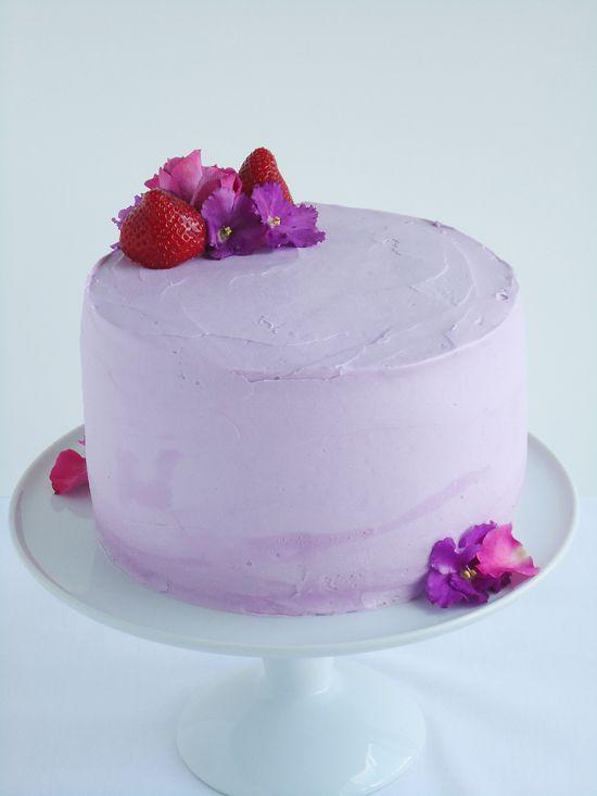 Erdbeer-Lavendel Torte