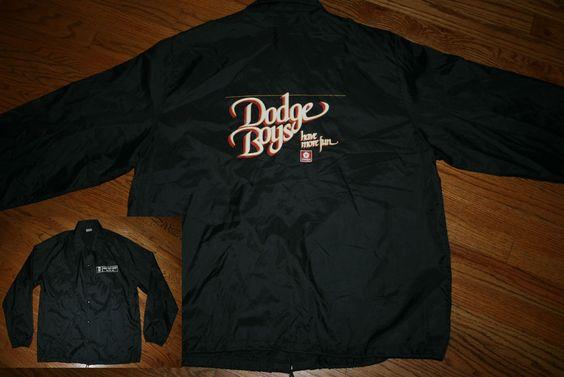 Vintage DODGE BOYS HAVE MORE FUN Wabash Valley Chrysler Indiana Snap Jacket-2XL #Birdie #BasicJacket