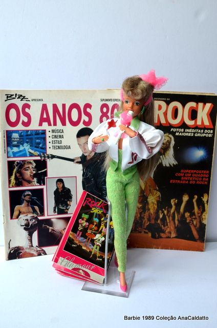Scrap da AnaCaldatto: Barbie e Rock dos anos 80
