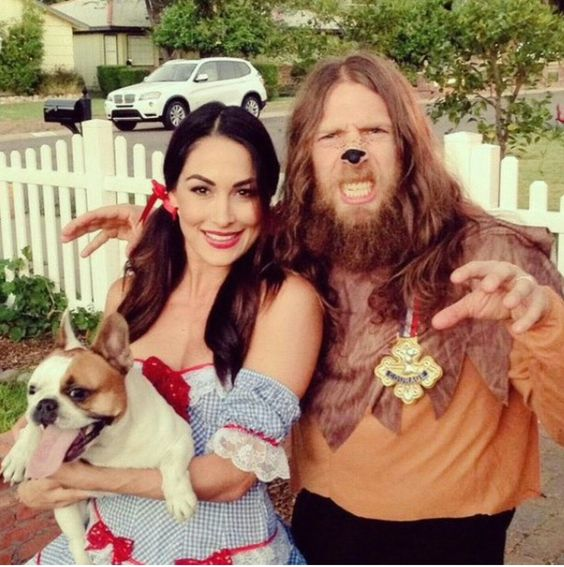 Lions and tigers and bears oh my! Brie Bella and Daniel Bryan #wwe #bellatwins #danielbryan