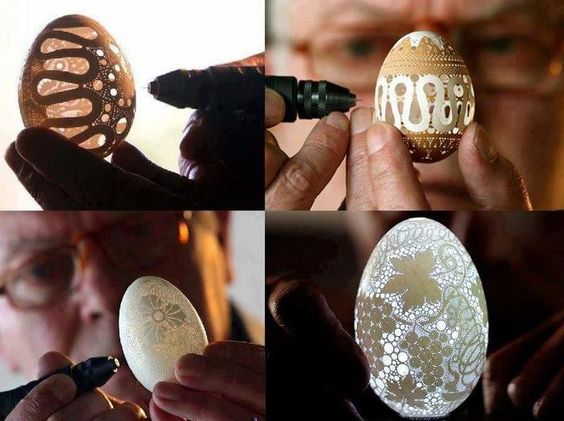 Eggshell Carving ART!