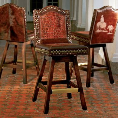 Outback Barstool Leather King Ranch