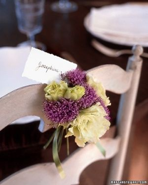 Floral Chair-Back Place Cards