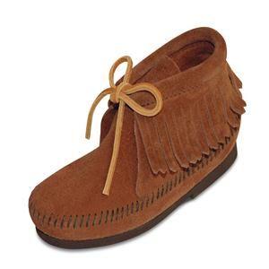 Women's Minnetonka Classic Fringed Boot - Brown