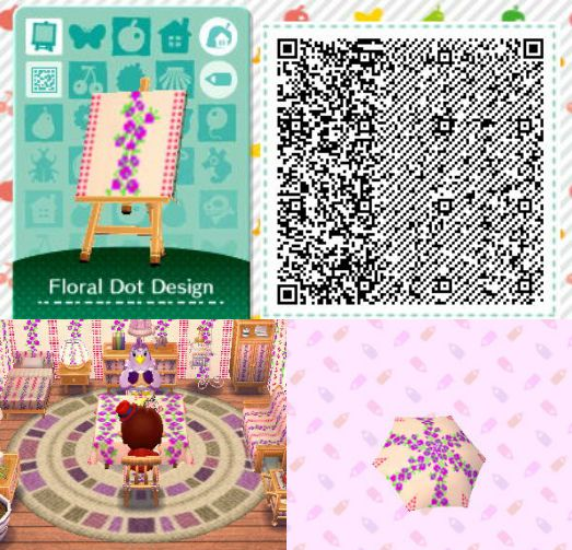 Acnl achhd qr code wall floor fabric acnl achhd qr for 7 11 happy home designer