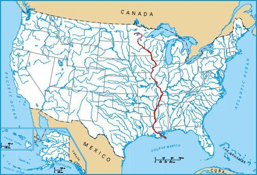 Mississippi River Mrs Elder List Of Longest Rivers Of The - Rivers in us map