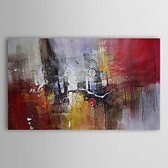 Peint à la main Abstrait Peintures à l'huile,Traditionnel Un Panneau Toile Peinture à l'huile Hang-peint For Décoration d'intérieur