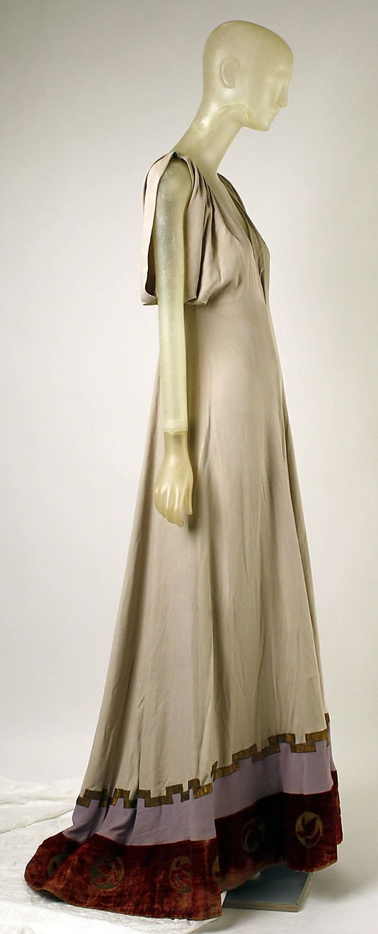Dress, Evening  Madeleine Vionnet  (French, Chilleurs-aux-Bois 1876–1975 Paris)