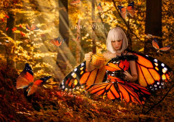 Tea Time for a Fairy by *Anne-Wipf on deviantART