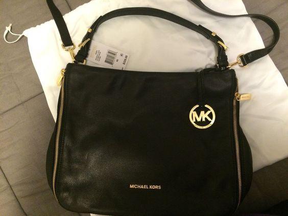 275ff20311fe9f ... Michael Kors Essex Hobo Large Convertible Shoulder Bag Leather Black  328 eBay ...