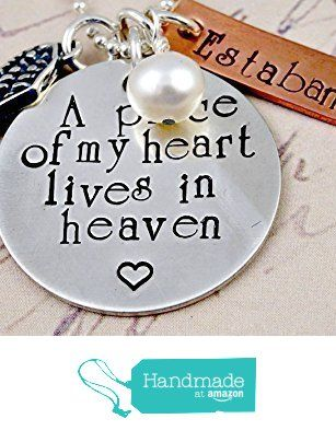 A Piece of My Heart Lives In Heaven- Hand Stamped Remembrance Necklace from RoseCreekCottage http://www.amazon.com/dp/B016CMZTYQ/ref=hnd_sw_r_pi_dp_6uNSwb108E9H9 #handmadeatamazon