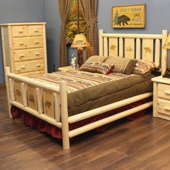 Log cabin furniture bear decor and cabin furniture on for Montana rustic accents