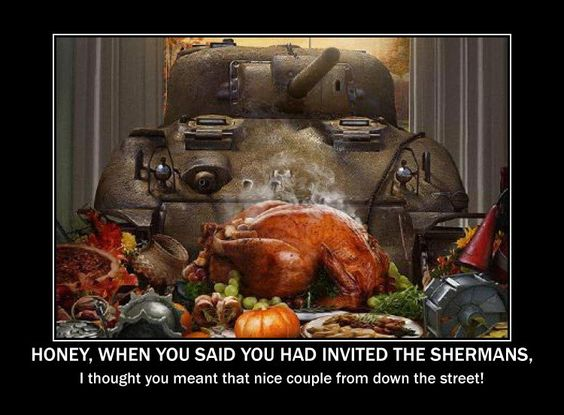 Caption This Image #107 Winner It's Thanksgiving so...we have a winner for last weeks image contest. John P. Gulyas who entered via Facebook has snagged one of the most coveted prize in the sport of Image Captioning which is of course is a $50.00 Gift Card from Michigan Toy Soldier.