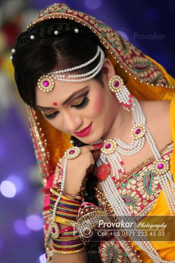 Gaye Holud Bangladeshi | Desi Weddings | Pinterest | Beads Pearl Set And Pearls