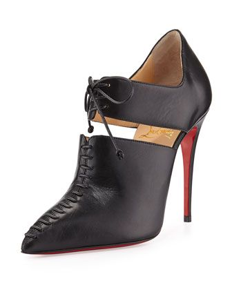 christian louboutin classic pointed-toe boots