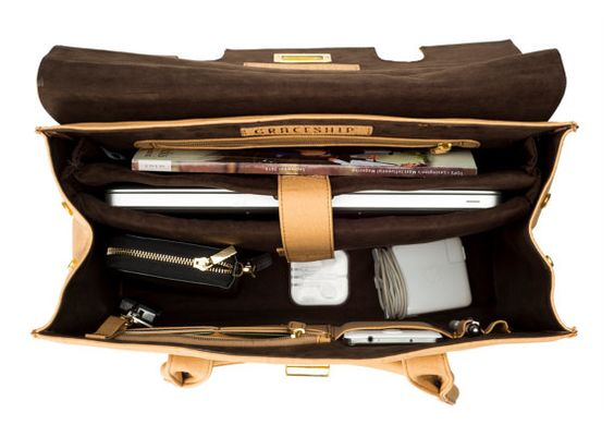 Vegan Leather Womens Laptop Bag London Computer Bag by GRACESHIP