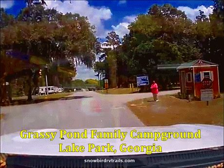 Entering Grassy Pond Family Campground