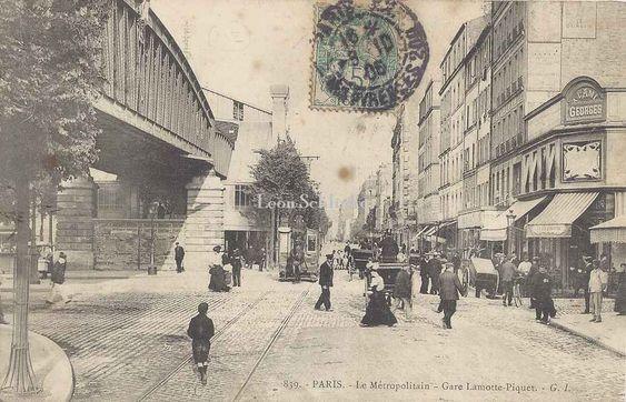 Station La Motte Picquet Angle Rue Du Commerce Photos Anciennes Vieux Paris Paris