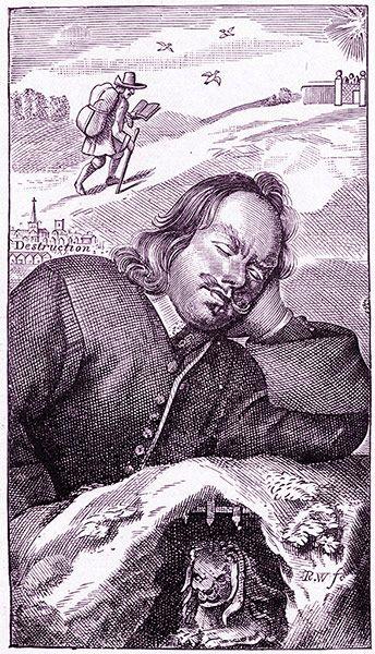 Frontispiece for John Bunyan's The Pilgrim's Progress by Robert White Type of literature: allegory allegorical novel