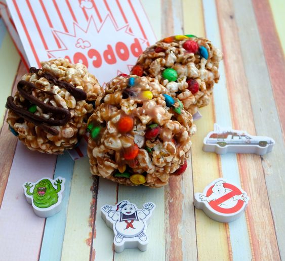 Take a cue from our great day out at the movies and make these Ghostbusters – inspired M&M's® Caramel Popcorn Balls. Perfect for back to school snacks.