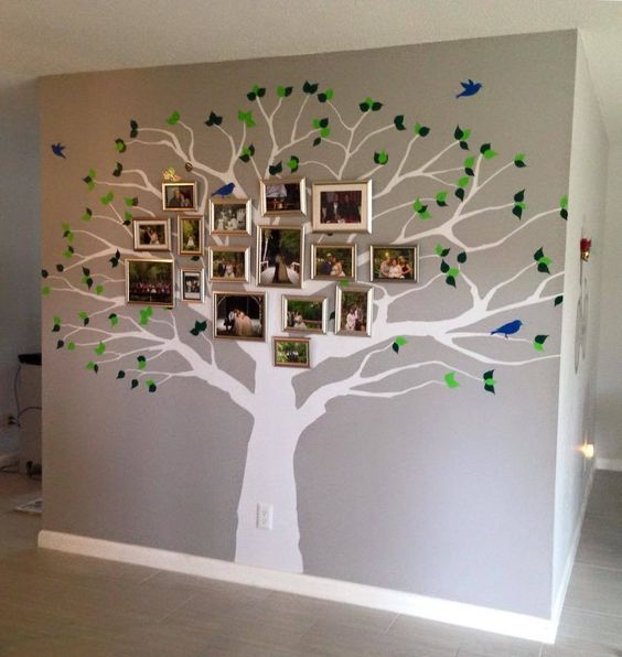 Family Tree Wall Decal Oak Large Decal - How to put up a tree wall decal
