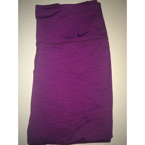 Nike Dri-Fit Capri Workout Pants Purple Nike Dri-Fit workout pants. In excellent condition. Have only been worn a couple times. I don't really use them that's why I'm selling them! Size: Small Nike Pants Capris