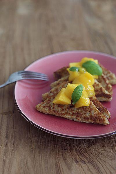 Kokos French Toast mit Mango