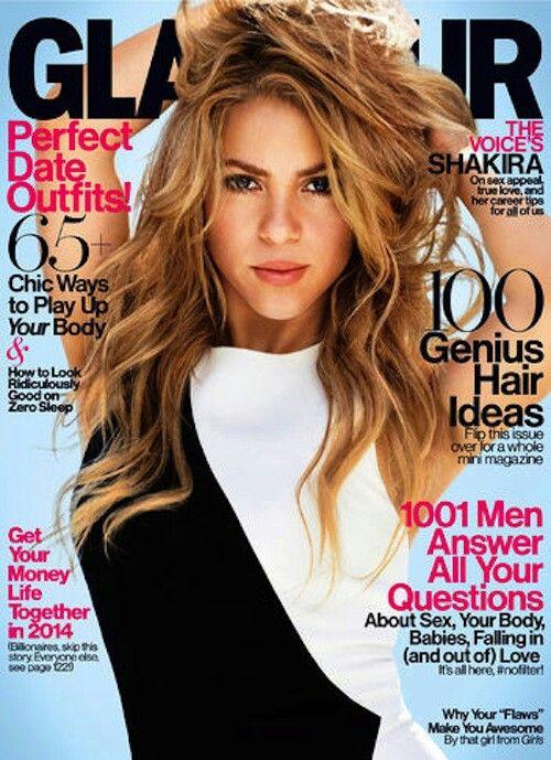 Shakira on Glamour 2014